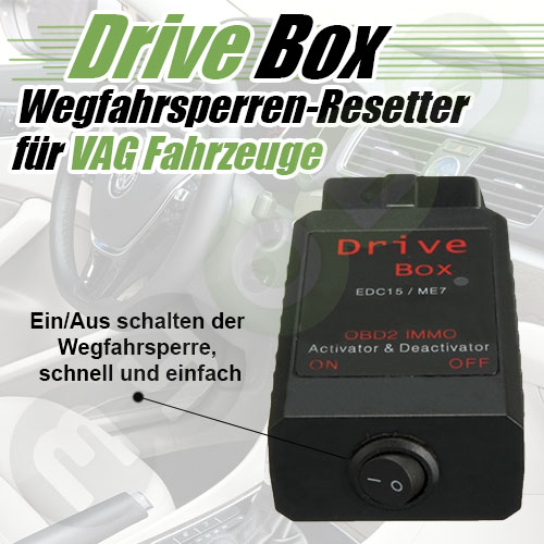 drive box wegfahrsperre immo off deaktivieren f r vw audi. Black Bedroom Furniture Sets. Home Design Ideas